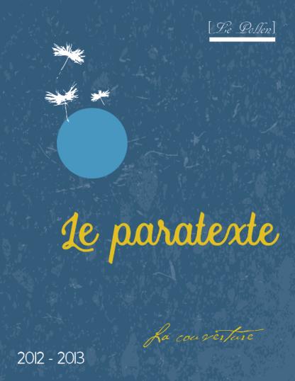 Hors serie - Le paratexte - page couverture
