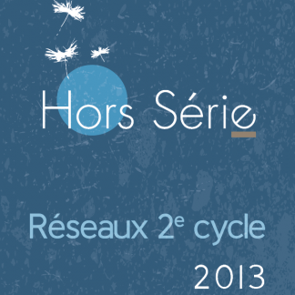 Hors serie - Reseaux 2e cycle - 2013 - page couverture