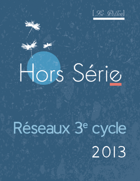 Hors serie - Reseaux 3e cycle - 2013 - page couverture